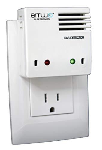 Detector de Gas Alarma Detector de Fugas de Gas LP propano y Gas Natural...