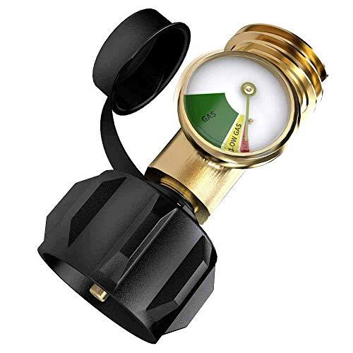 Rivland Manómetro Medidor Adaptador Para Cilindro o Tanque Gas LP Tipo...