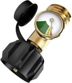 Manómetro Medidor Adaptador Para Cilindro o Tanque Gas LP Tipo Americano